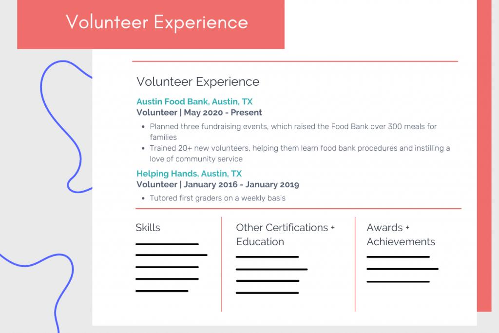 volunteer experience on resume example